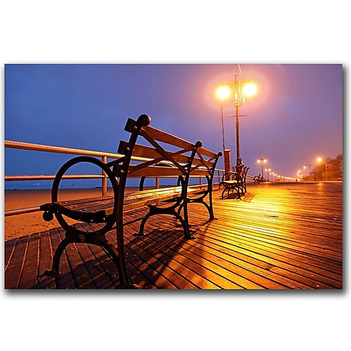Trademark Fine Art Boardwalk by CATeyes Canvas Art Ready to Hang 22x32 Inches