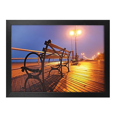 Trademark Fine Art Boardwalk Canvas Art Ready to Hang 18x24 Inches
