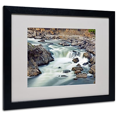 Trademark Fine Art CATeyes 'A Treasure' Matted Art Black Frame 16x20 Inches