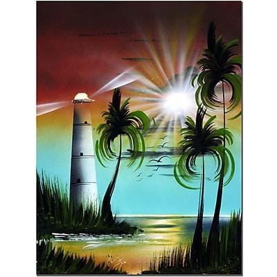 Trademark Fine Art Lighthouse at Sunset by Conrad Canvas Art
