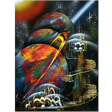 Trademark Fine Art Planet Alignment by Conrad Canvas Art Ready to Hang