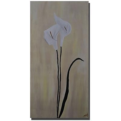 Trademark Fine Art Nicole Dietz Calla Pair Gallery Wrapped Canvas Art 12x24 Inches
