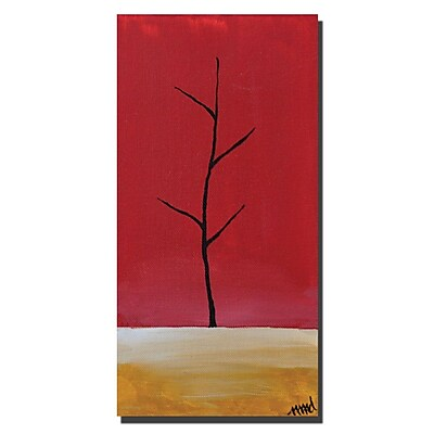 Trademark Fine Art Bare by Nicole Dietz-Canvas Art Ready to Hang 16x32 Inches
