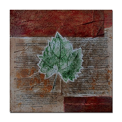 Trademark Fine Art Rusty Leaf by Nicole Dietz-Canvas Art