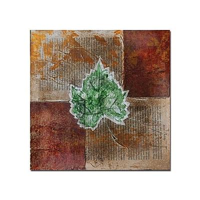 Trademark Fine Art Rusty Leaf II by Nicole Dietz-Canvas Art