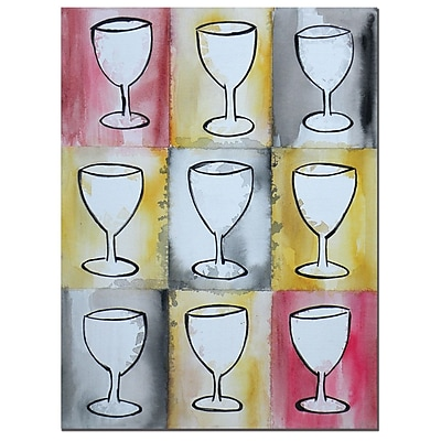 Trademark Fine Art Wine on Repeat by Nicole Dietz-Canvas Art 14x18 Inches