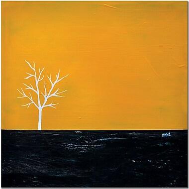 Trademark Fine Art Yellow on White Series by Nicole Dietz Canvas Art