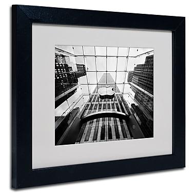 Trademark Fine Art Nina Papiorek 'NYC Big Apple II' Matted Art Black Frame 11x14 Inches