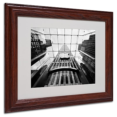 Nina Papiorek 'NYC Big Apple II' Matted Framed Art - 11x14 Inches - Wood Frame