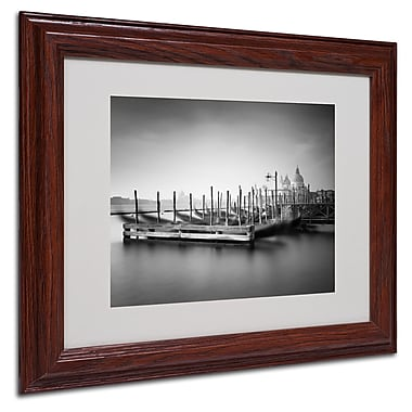 Nina Papiorek 'Venice Dream' Matted Framed Art - 11x14 Inches - Wood Frame