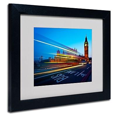 Trademark Fine Art Nina Papiorek 'London Big Ben II' Matted Art Black Frame 11x14 Inches