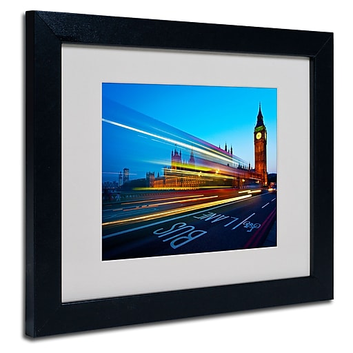 Trademark  Fine  Art Nina Papiorek 'London Big Ben II' Matted Art Black Frame 11x14 Inches