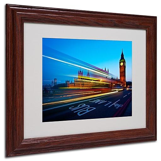 Trademark  Fine  Art Nina Papiorek 'London Big Ben II' Matted Art White Frame 11x14 Inches