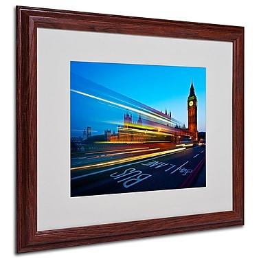 Trademark Fine Art Nina Papiorek 'London Big Ben II' Matted Art White Frame 16x20 Inches