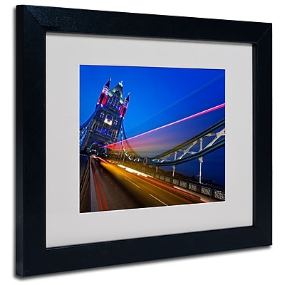 Trademark Fine Art Nina Papiorek 'London Big Ben' Matted Art Black Frame 11x14 Inches