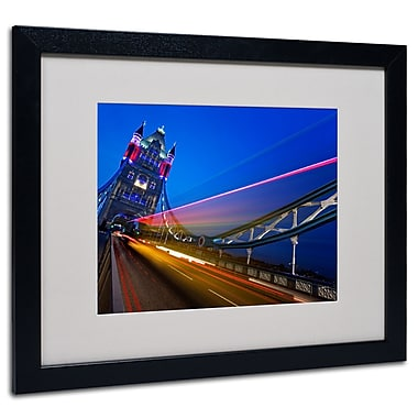 Trademark Fine Art Nina Papiorek 'London Big Ben' Matted Art Black Frame 16x20 Inches
