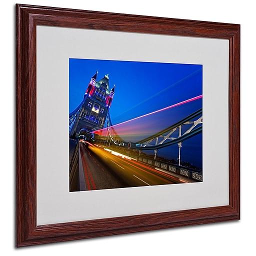 Trademark  Fine  Art Nina Papiorek 'London Big Ben' Matted Art White Frame 16x20 Inches