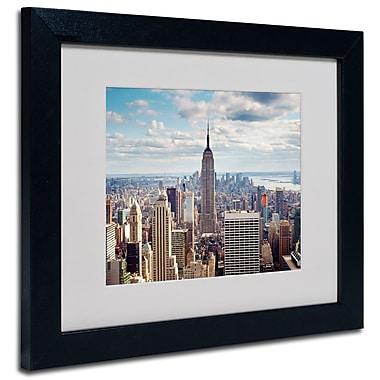 Trademark Fine Art Nina Papiorek 'Empire View' Matted Art Black Frame 11x14 Inches