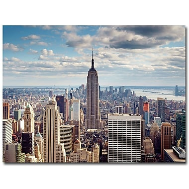 Trademark Fine Art Nina Papiorek 'Empire View' Canvas Art 18x24 Inches