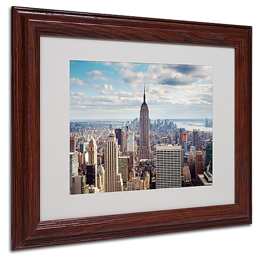 Nina Papiorek 'Empire View' Matted Framed Art - 16x20 Inches - Wood Frame
