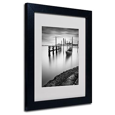 Trademark Fine Art Nina Papiorek 'Venice Canal Grande' Matted Art Black Frame 11x14 Inches