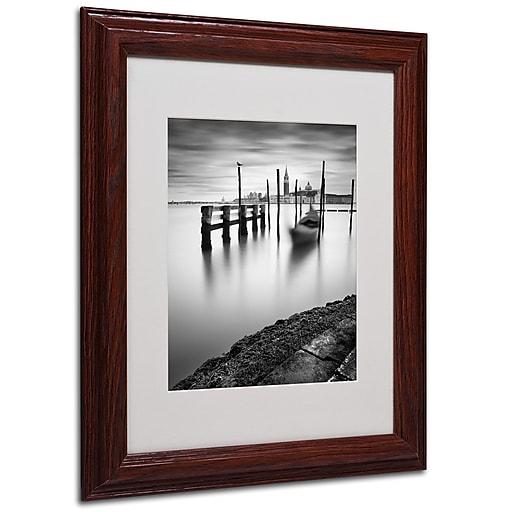 Nina Papiorek 'Venice Canal Grande' Matted Framed Art - 11x14 Inches - Wood Frame