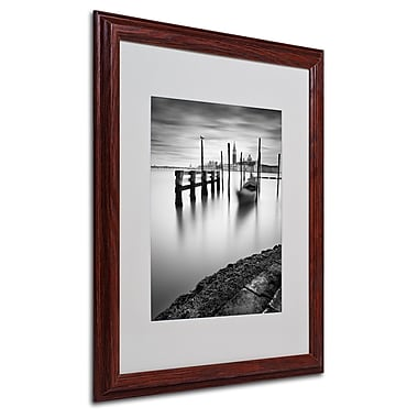 Nina Papiorek 'Venice Canal Grande' Matted Framed Art - 16x20 Inches - Wood Frame