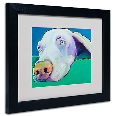 Trademark Fine Art Pat Saunders-White, 'Fritz' Matted Art Black Frame 11x14 Inches