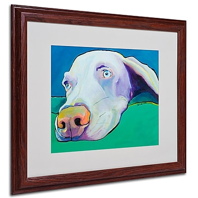 Pat Saunders-White 'Fritz' Framed Matted Art - 16x20 Inches - Wood Frame