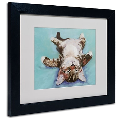 Trademark Fine Art Pat Saunders-White 'Little Napper' Matted Art Black Frame 11x14 Inches