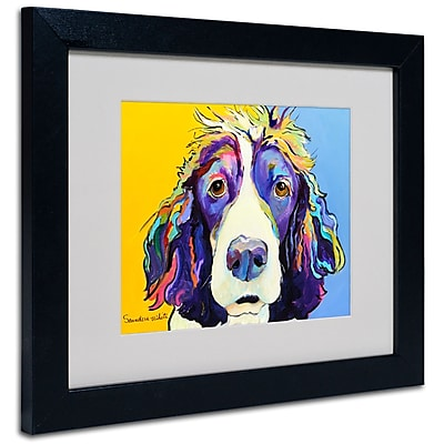 Trademark Fine Art Pat Saunders-White 'Sadie' Matted Art Black Frame 11x14 Inches