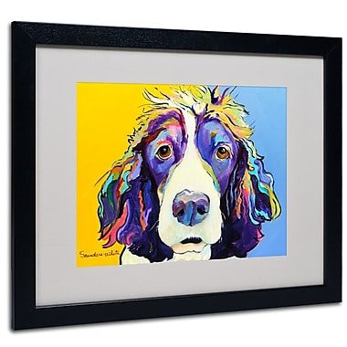 Trademark Fine Art Pat Saunders-White 'Sadie' Matted Art Black Frame 16x20 Inches