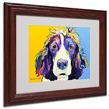 Pat Saunders-White 'Sadie' Framed Matted Art - 11x14 Inches - Wood Frame