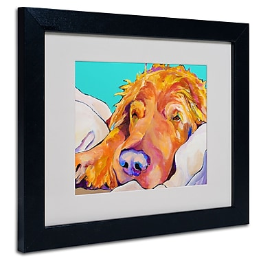 Trademark Fine Art Pat Saunders-White 'Snoozer King' Matted Art Black Frame 11x14 Inches