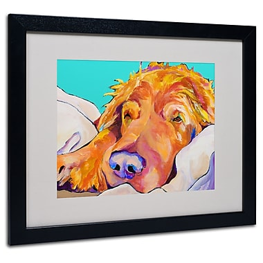 Trademark Fine Art Pat Saunders-White 'Snoozer King' Matted Art Black Frame 16x20 Inches