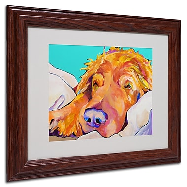 Pat Saunders-White 'Snoozer King' Framed Matted Art - 11x14 Inches - Wood Frame