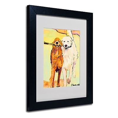 Trademark Fine Art Pat Saunders 'Stick With Me 1' Matted Art Black Frame 11x14 Inches