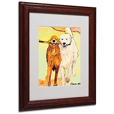 Pat Saunders 'Stick With Me 1' Matted Framed Art - 11x14 Inches - Wood Frame