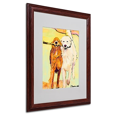 Pat Saunders 'Stick With Me 1' Matted Framed Art - 16x20 Inches - Wood Frame