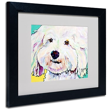 Trademark Fine Art Pat Saunders-White 'Buttons' Matted Art Black Frame 11x14 Inches