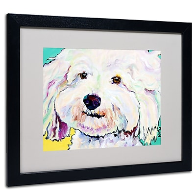 Trademark Fine Art Pat Saunders-White 'Buttons' Matted Art Black Frame 16x20 Inches