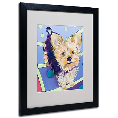 Trademark Fine Art Pat Saunders-White 'Claire' Matted Art Black Frame 16x20 Inches