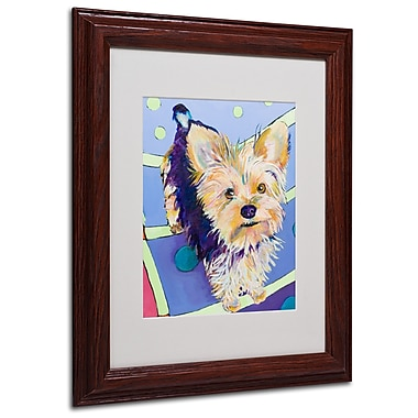 Pat Saunders-White 'Claire' Framed Matted Art - 11x14 Inches - Wood Frame