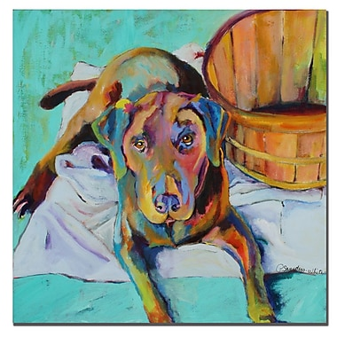 Trademark Fine Art Pat Saunders-White 'Basket Retriver' Canvas Art 24x24 Inches