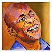 Trademark Fine Art Pat Saunders-White 'Jazz Man' Canvas Art