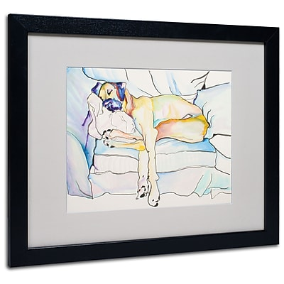 Trademark Fine Art Pat Saunders 'Sleeping Beauty' Matted Art Black Frame 16x20 Inches