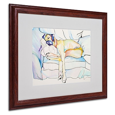 Pat Saunders 'Sleeping Beauty' Matted Framed Art - 16x20 Inches - Wood Frame