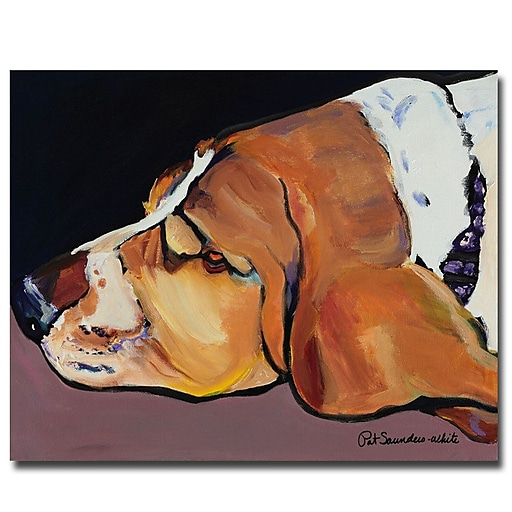 Trademark Fine Art Pat Saunders-White 'Farley' Canvas Art