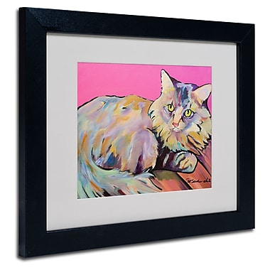 Trademark Fine Art Pat Saunders 'Catatonic' Matted Art Black Frame 11x14 Inches