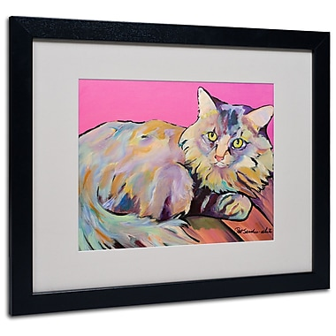 Trademark Fine Art Pat Saunders 'Catatonic' Matted Art Black Frame 16x20 Inches